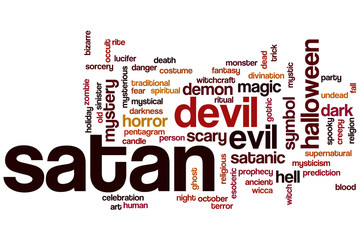 Satan word cloud