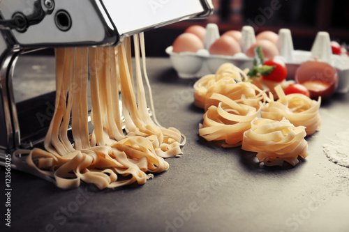 using pasta machine