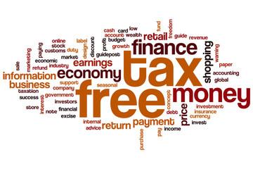 Tax free word cloud