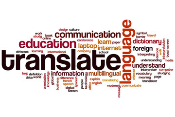 Translate photos royalty free images graphics vectors videos translate word cloud malvernweather Images