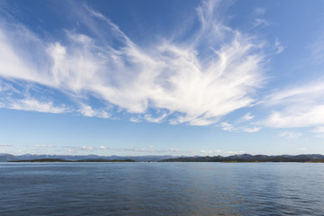 sky and clouds on the Lysefjord in Norway