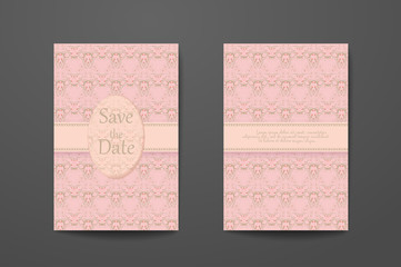 Business card with sample text. Flyer identity template set, invitation design collection, abstract pattern for booklet layout.