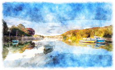 Wall Mural - High Tide at Millbrook in Cornwall
