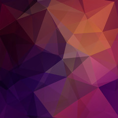 Background made of brown, purple, pink triangles. Square composition with geometric shapes. Eps 10