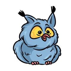 Bird owl cartoon illustration isolated image animal character