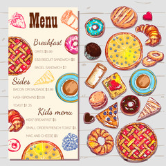 Food Top View Menu Template