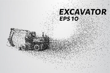 The excavator of the particles. The excavator consists of small circles.