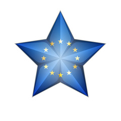 EU Flag Star 3D illustration