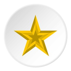 Five pointed star icon. Flat illustration of five pointed star vector icon for web
