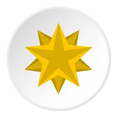 Two crossed stars icon. Flat illustration of two crossed stars vector icon for web