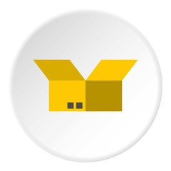 Box icon. Flat illustration of box vector icon for web