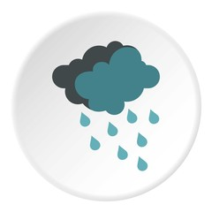 Cloud with rain icon. Flat illustration of cloud with rain vector icon for web