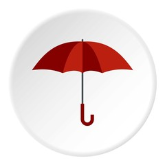 Umbrella icon. Flat illustration of umbrella vector icon for web