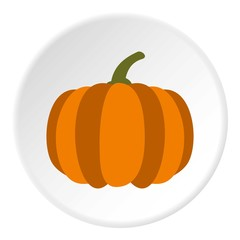 Pumpkin icon. Flat illustration of pumpkin vector icon for web