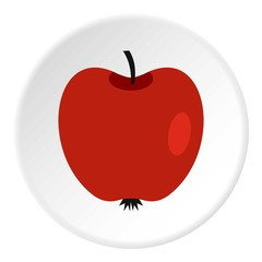 Red apple icon. Flat illustration of red apple vector icon for web