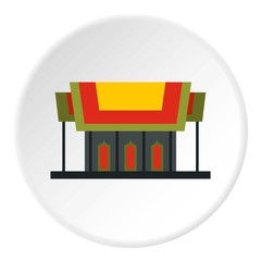 Temple icon. Flat illustration of temple vector icon for web
