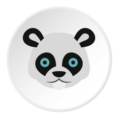 Panda icon. Flat illustration of panda vector icon for web