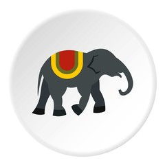 Elephant icon. Flat illustration of elephant vector icon for web