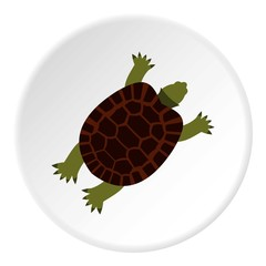 Turtle icon. Flat illustration of turtle vector icon for web