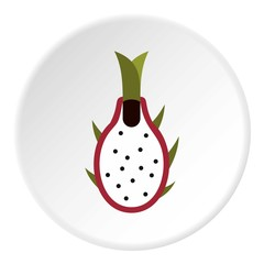Dragon fruit icon. Flat illustration of dragon fruit vector icon for web