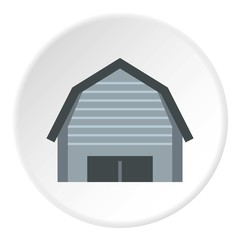 High garage icon. Flat illustration of high garage vector icon for web