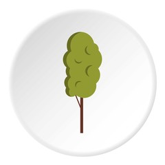 Tall wood icon. Flat illustration of tall wood vector icon for web