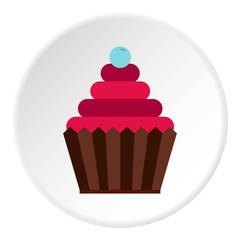 Cupcake icon. Flat illustration of cupcake vector icon for web