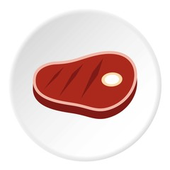 Steak icon. Flat illustration of steak vector icon for web