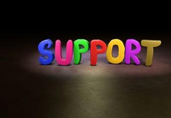 Support, Internet, Design, 3D