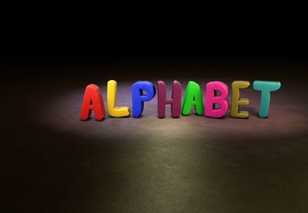 Alphabet, Internet, Design, 3D