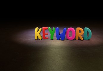 Keyword, Internet, Design, 3D