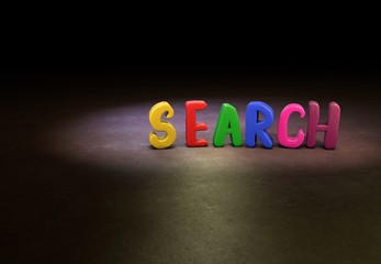 Search, Internet, Design, 3D