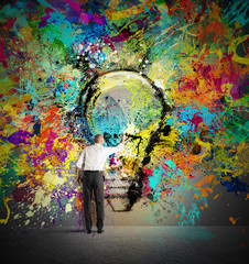 Fototapete - Paint a creative idea