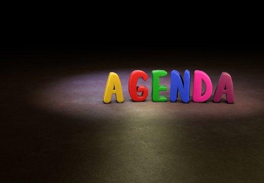 Agenda, Internet, Design, 3D