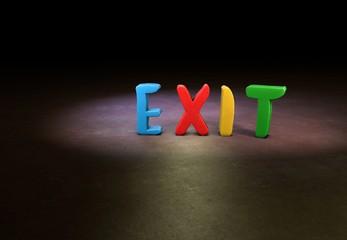 Exit, Designer, 3D