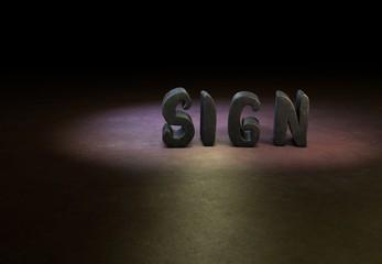 Sign, Designer, 3D