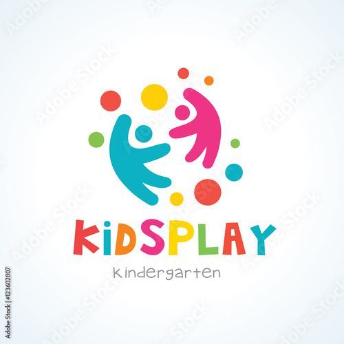 quotkids logo kids play logo kindergarten logo toy logo