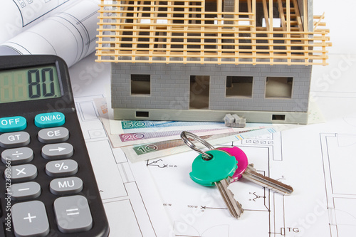 House Under Construction Keys Calculator Polish
