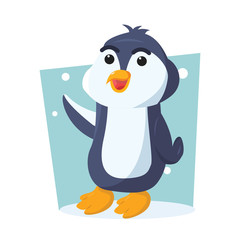 penguin character vector illustration design