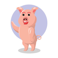 pig character vector illustration design