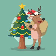 deer delivering christmast present