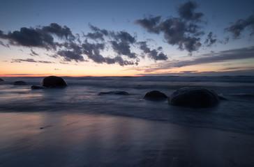 Sunset over a swedish beach