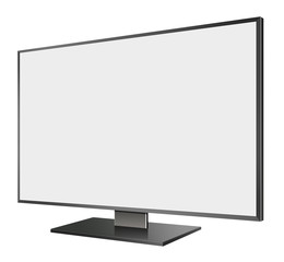 3D illustration of  LED TV in Perspective view