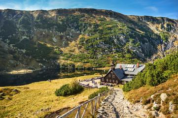 Fototapeta Mountain Shelter - Karkonosze/Poland obraz