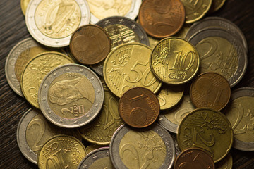 Background of Euro coins money (European currency)
