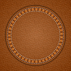Leather round patch