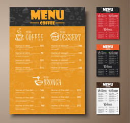 Design a menu for the cafe, shops or coffee shops with hand draw