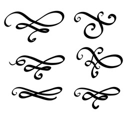 Swirl decorative set vector