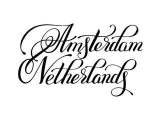 Amsterdam Netherlands black ink hand written inscription