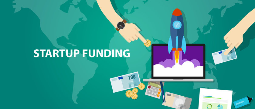start-up funding company launch rocket business investment money cash